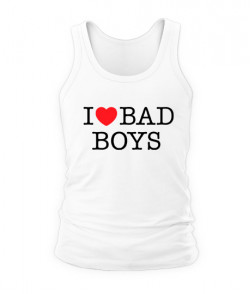 Мужская Майка I love bad boys
