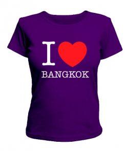 Женская футболка I love Bangkok