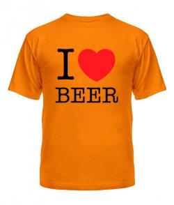 Мужская Футболка I love beer