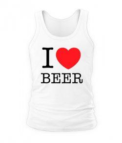 Мужская Майка I love beer