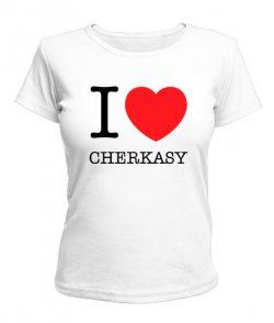 Женская футболка I love Cherkasy