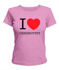 Женская футболка I love Chernovtsy