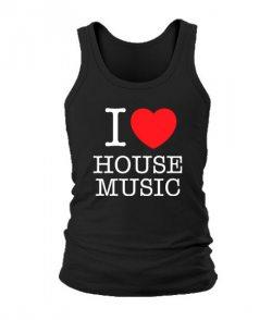 Мужская Майка I love house music