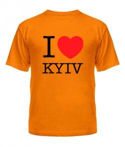 Мужская Футболка I love Kyiv