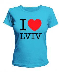Женская футболка I love Lviv