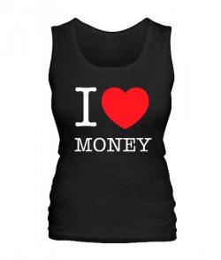 Женская майка I love money