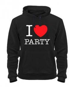 Толстовка I love party-Вариант 2