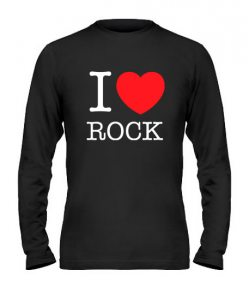 Мужской Лонгслив I love rock