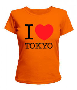Женская футболка I love Tokyo