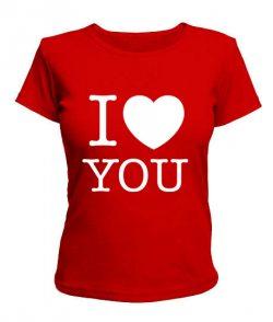 Женская футболка I love you-Вариант 2