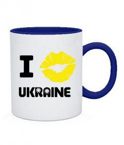 Чашка I love Ukraine (губы)