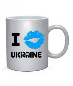 Чашка арт I love Ukraine (губы)