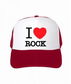 Кепка тракер I love rock