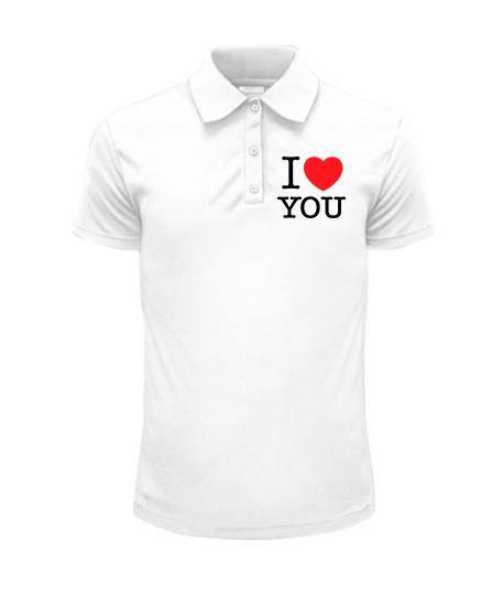 Мужское Поло I love you-Вариант 2