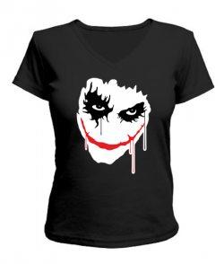 Женская футболка с V-образным вырезом Джокер