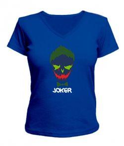 Женская футболка с V-образным вырезом Suicide Squad Joker