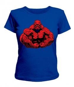 Женская футболка Черт - бодибилдер
