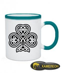 Чашка хамелеон Кельтский клевер