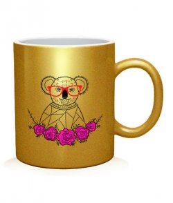 Чашка арт Коала-хипстер