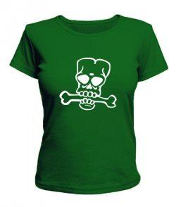 Женская футболка Череп №16