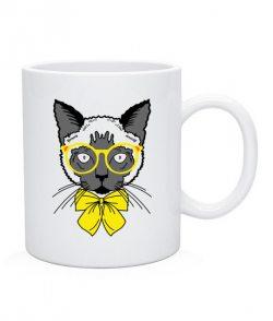 Чашка Кот-хипстер №4