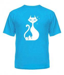 Мужская футболка Кошка и Кот