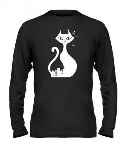 Мужской лонгслив Кошка и Кот