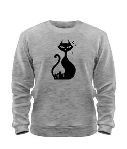 Свитшот Кошка и Кот (для него)