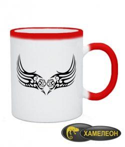 Чашка хамелеон Тату Крыла