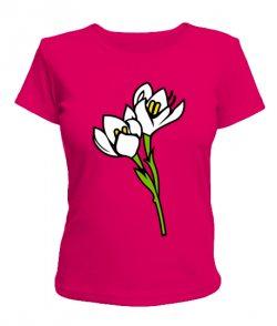 Женская футболка Подснежник