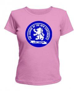 Женская футболка Лига новых континентов