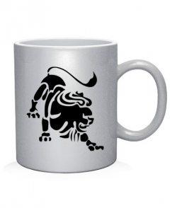 Чашка арт Лев