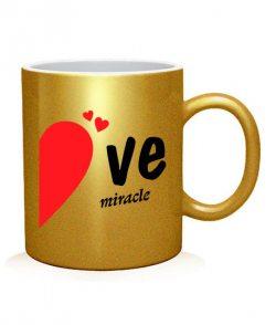 Чашка арт Let love create (для нее)