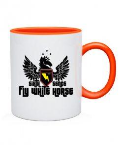 Чашка Летающий белый конь
