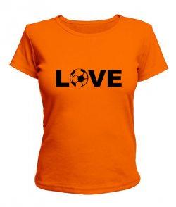 Женская футболка Лав футбол