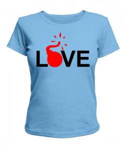 Женская футболка Лав бомба