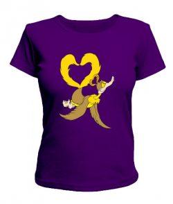 Женская футболка Влюбленная уточка