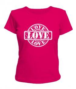 Женская футболка Любовь-печать