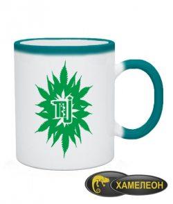 Чашка хамелеон Волшебный лист