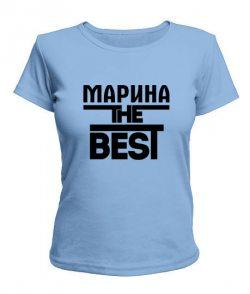 Женская футболка Марина the best