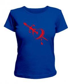 Женская футболка Меч и сердце