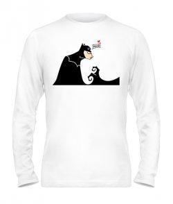Мужской лонгслив Бетмен и Женщина-кошка