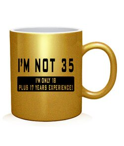 Чашка арт Мне не 35!