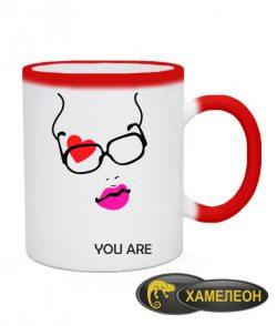 Чашка хамелеон You are my everything (для нее)