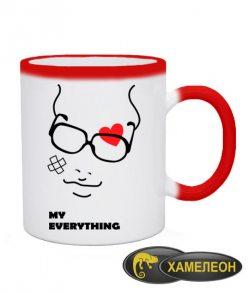 Чашка хамелеон You are my everything (для него)