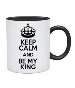 Чашка Keep Calm and Be My (для нее)