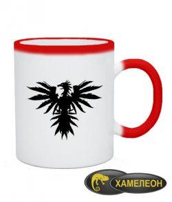 Чашка хамелеон Ободраный орел