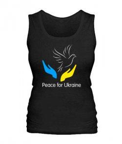 Женская майка Peace for Ukraine