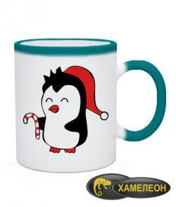 Чашка хамелеон Пингвиненок Вариант 2