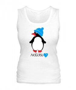 Женская майка Пингвин-любовь